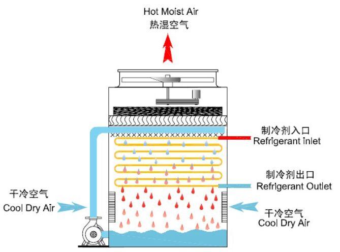 逆流式蒸发式冷凝器结构图